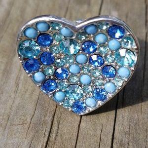 Jewelry - Blue Sprarkling Stretchy Ring